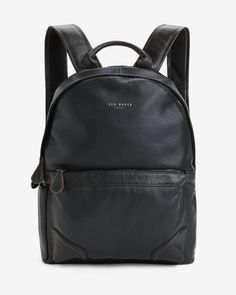 Leather rucksack - Black | Bags | Ted Baker FR