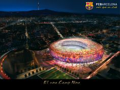 Camp Nou FCB Night HD Widescreen Wallpaper-