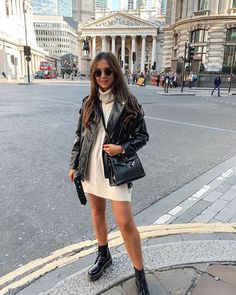 Winter Mode Outfits, Winter Fashion Outfits, Autumn Winter Fashion, Trendy Outfits, Summer Outfits, Cute Outfits, Black Outfits, Outfits With Boots, Combat Boot Outfits