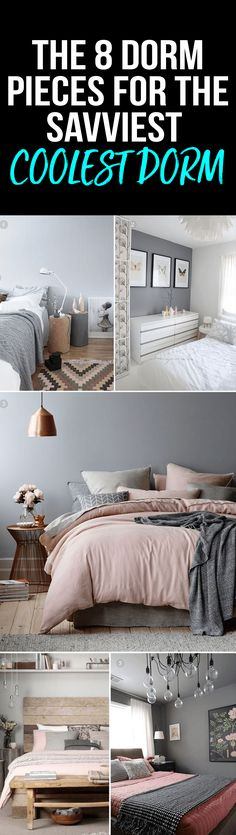 dorm room pieces that will make your room super cool and savvy! #dorm #room #College
