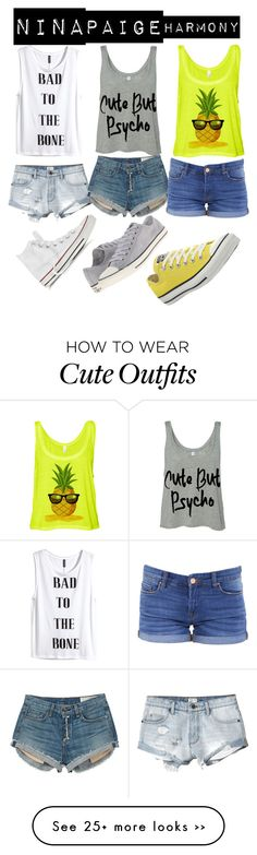 """Girl Besties"" by xoxoluve on Polyvore featuring RVCA, H&M, rag & bone, BLANKNYC and Converse"