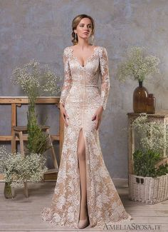 For the classic brides who adore traditional, romantic silhouettes just as much as we do, we've got the perfect wedding dress inspiration for you! These Amelia Sposa wedding dresses are just remarka. Amelia Sposa Wedding Dress, Perfect Wedding Dress, Wedding Dress Styles, Bridal Dresses, Wedding Gowns, Bridesmaid Dresses, Wedding Shoes, Wedding Reception, Wedding Rings