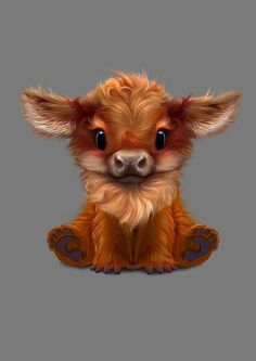 Art by Nafantano, on Etsy - Niedliche Tiere Malen - Cute Fantasy Creatures, Cute Creatures, Anime Animals, Funny Animals, Cute Cartoon Animals, Draw So Cute Animals, Farm Animals, Cute Animal Drawings, Drawing Animals