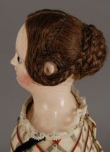 wefted human hair wig that is not only second to none, it is styled in the lovely manner that Young Victoria herself might appreciate.