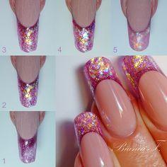 Bildergebnis f. Purple Nail Art, Rose Nail Art, Red Acrylic Nails, Nail Art Diy, Acrylic Nail Designs, Nail Art Designs, Gorgeous Nails, Pretty Nails, Sculpted Gel Nails