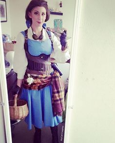 Steam up your Halloween with these steampunk costume ideas for women and men. You can either play it safe and pick a complete costume like our favorites below, Disney Steampunk Cosplay, Steampunk Disney Princesses, Steampunk Belle, Disney Cosplay, Steampunk Costume, Steampunk Fashion, Steampunk Dress, Comic Con Costumes, Cosplay Costumes