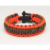 Survival Straps Survival Bracelet - Woodland Camo/Hunter Orange