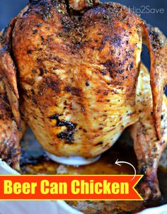 Best Ever Beer Can Chicken. Beer Can Chicken makes roasting a chicken at home super tasty and super easy! Not only does the can act as a great platform to keep your chicken upright, but the beer within the can also keeps the meat moist and adds wonderful flavor. Want to skip the beer? Try root beer or another soda instead for similar results!