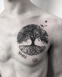 50 Gorgeous and Meaningful Tree Tattoos Inspired by Nature's.- 50 Gorgeous and Meaningful Tree Tattoos Inspired by Nature's Path 50 Gorgeous and Meaningful Tree Tattoos Inspired by Nature& Path – KickAss Things - Tree Tattoo Men, Tree Tattoo Designs, Tattoo Designs For Women, Celtic Tree Tattoos, Tree Roots Tattoo, Yggdrasil Tattoo, Rib Tattoos For Guys, Small Tattoos, Cool Tattoos