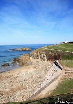 El Murallón beach in Tapia de Casariego, Asturias ,Spain