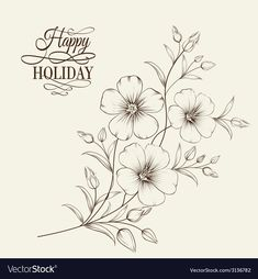 Linum flower Royalty Free Vector Image - VectorStock - My site Embroidery Transfers, Hand Embroidery Patterns, Vintage Embroidery, Embroidery Stitches, Machine Embroidery, Embroidery Sampler, Free Vector Images, Vector Free, Floral Drawing