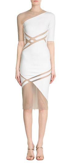 Verführt mit subtiler Sexiness: Das Cocktailkleid von David Koma mit transparenten Einsätzen! #Stylebop