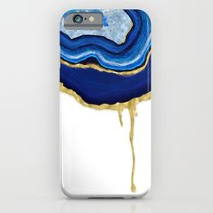 Blue Dripping Agate iPhone & iPod Case by Noonday Design. Worldwide shipping available at Society6.com. Just one of millions of high quality products available.