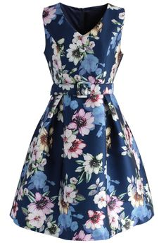 Dancing in Floral Printed Dress - New Arrivals - Retro, Indie and Unique Fashion