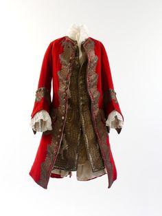 Coat ensemble, circa 1730 via The Costume Institute of The Metropolitan Museum of Art
