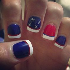 Obligatory Fourth of July Nails. This design may go on my toes. Maybe.