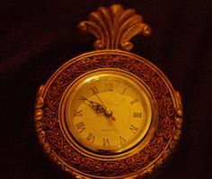 Gorgeous Vintage Heavy Iron Victorian Style Mantle Clock by 2BEB, $50.00