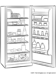 REFRIGERATOR for Colouring Pages