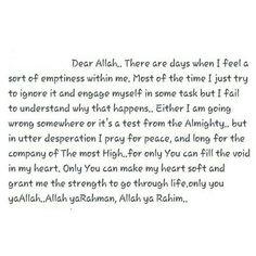 Dear Allah...