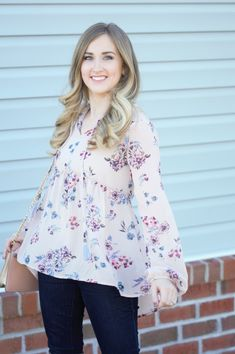 Target Blouse, Floral Top, Floral Blouse outfit, Blush outfit, ootd, spring fashion, casual outfit, date night outfit