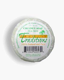 Tropical Traditions Organic Virgin Coconut Oil Soap - Tea Tree Oil - 3.4 oz. - http://goodvibeorganics.com/tropical-traditions-organic-virgin-coconut-oil-soap-tea-tree-oil-3-4-oz/
