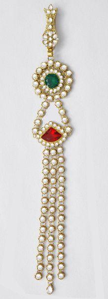 Kundan Hair Jewelry Choti