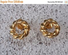 gold studs open twisted circle stud earrings by preciousjd Modern Vintage Fashion, Vintage Style, Gold Studs, Valentine Gifts, Gold Earrings, Gifts For Women, Pure Products, Sterling Silver, Jewelry