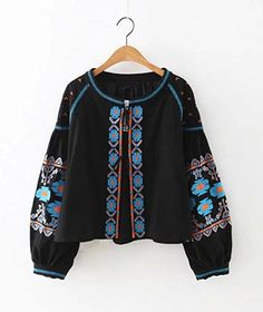 Amazon.com: R.Vivimos® Women Autumn Vintage Embroidered Short Jacket: Clothing