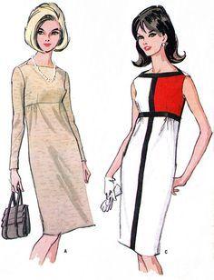 1960s Dress Pattern McCalls 8131 Mod Empire Waist by paneenjerez, $45.00