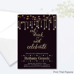 Custom Birthday Invitation 30th birthday Invitation thirty and