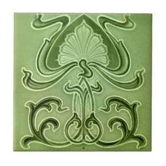 Art Nouveau Ceramic Tiles   Zazzle.co.uk