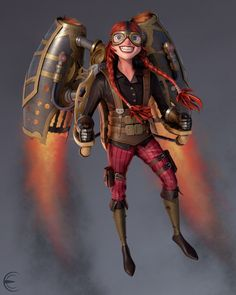 Hover Girl by Erick Cazares | Caricature | 3D | CGSociety