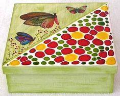 Resultado de imagen para como fazer mosaico Diy And Crafts, Crafts For Kids, Gaudi, Mosaic Patterns, Wabi Sabi, Keepsake Boxes, Wooden Boxes, Decorative Boxes, Lily