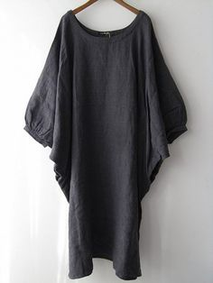 Veritecoeur~~Gray linen dress