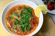 Ground Beef Vermicelli Soup