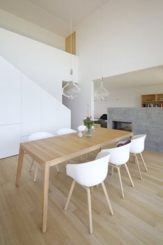 Haus DB Klaus — ARCHITEKTUR Jürgen Hagspiel Concrete Wood, House On A Hill, Dining Table, Modern, House Ideas, Interior, Furniture, Villa, Houses