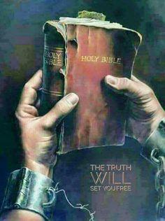 The Bible will set you free! La Sainte Bible, Prophetic Art, Biblical Art, Jesus Pictures, Bible Truth, God Jesus, Faith In God, Bible Scriptures, Trust God