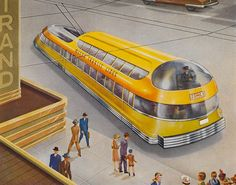 """Super-Transport on Super-Highways"" TIMKEN AXLES advertising series, 1940s."