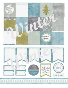 Winter Printable Planner Stickers by PassionforPlanners on Etsy