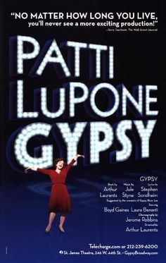 Amazon.com: Patti Lupone Gypsy (Broadway) - Movie Poster - 27 x 40: Lithographic Prints: Posters & Prints