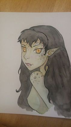 """Goblin girl""  watercolor painting by Bobbie wavrin"