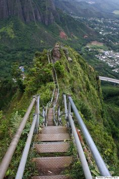 Illegal walkway in Hawaii - so beautiful, never heard of it before - sorry to loose it in a storm so can't put on bucket list