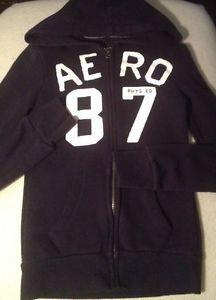 Areopostale Junior Girls Hoodie Navy Blue 87 Sz Xs Sweater