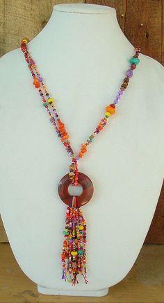 Boho Necklace Bohemian Style Indian Corn Fall by BohoStyleMe