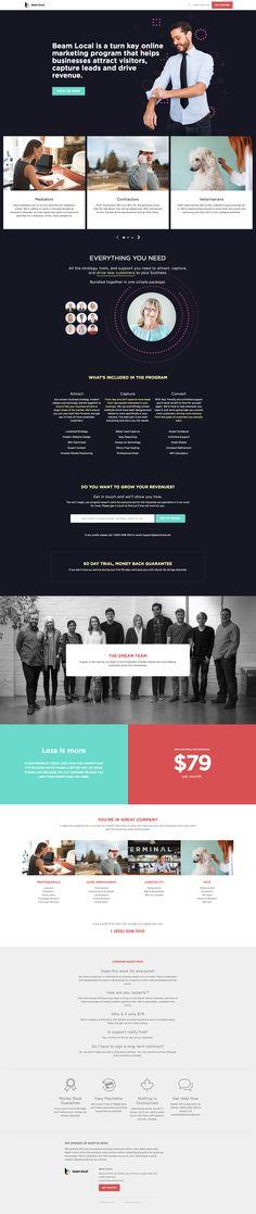 Beam Local Website Design #webdesign #websites #business #SAAS #corporate