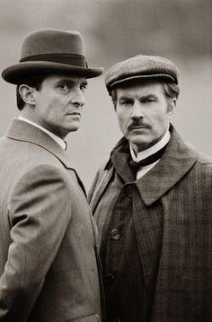 Jeremy Brett and David Burke as Holmes and Watson!