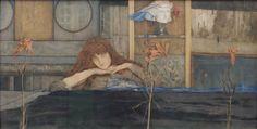 I lock my door upon myself Fernand Khnopff 1891 - Fernand Khnopff — Wikipédia