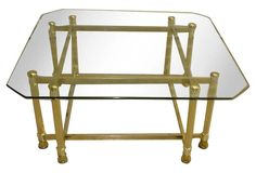 Square Brass Coffee Table | Love the Look | One Kings Lane