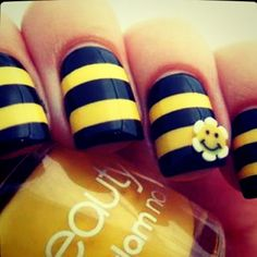 Bumblebee nails : )