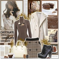 """""""Chocolate autumn"""" by ellchy89 ❤ liked on Polyvore"""